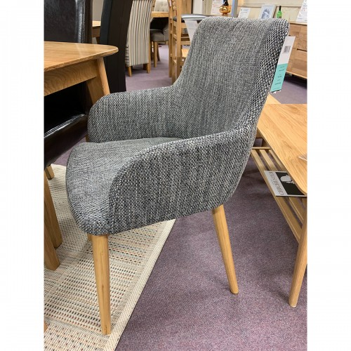 Grey Tweed Dining Chair - GREYTWEED