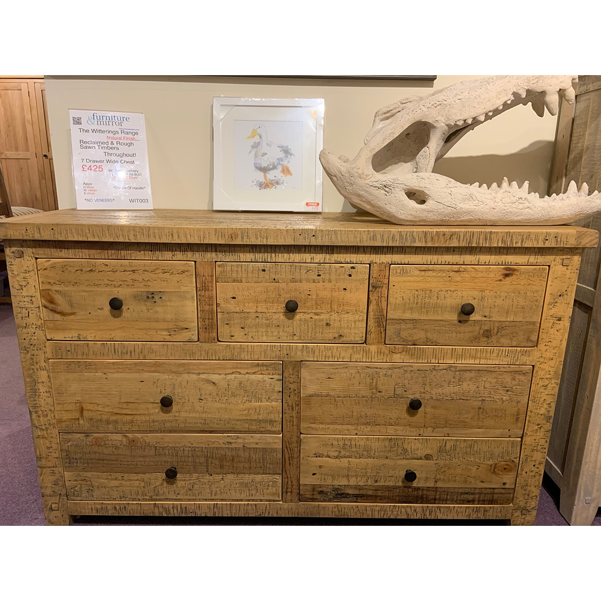 The Witterings 7 Drawer Wide Chest - WIT003N