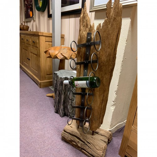 Genuine Reclaimed Wood Forest Sculpture Wine Rack- WINRCKSM