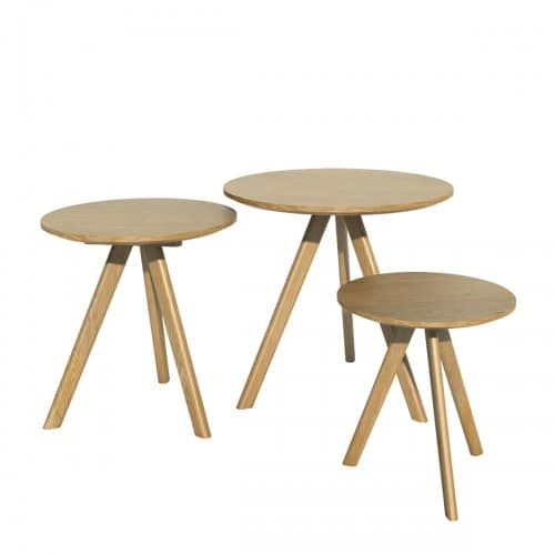 Nordic Round Nest of Tables- NORRNDNEST