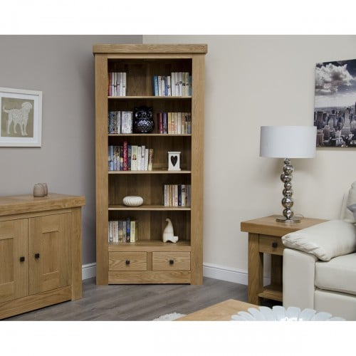 Chunky Large Bookcase With Drawers - CHULBC
