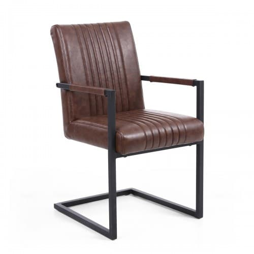 Selsey Brown Armed Dining Chair - SELBROWNARM