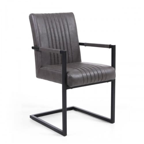 Selsey Grey Armed Dining Chair - SELGREYARM