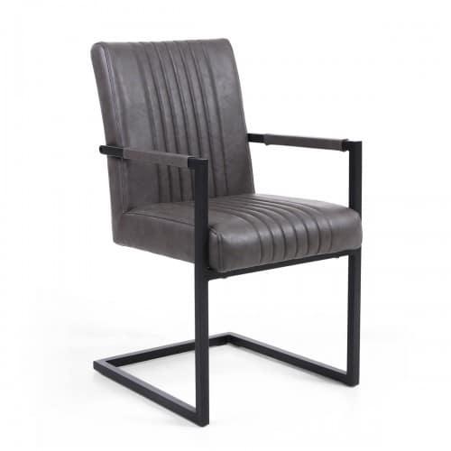 Selsey Grey Armed Dining Chair - SELGREYARM