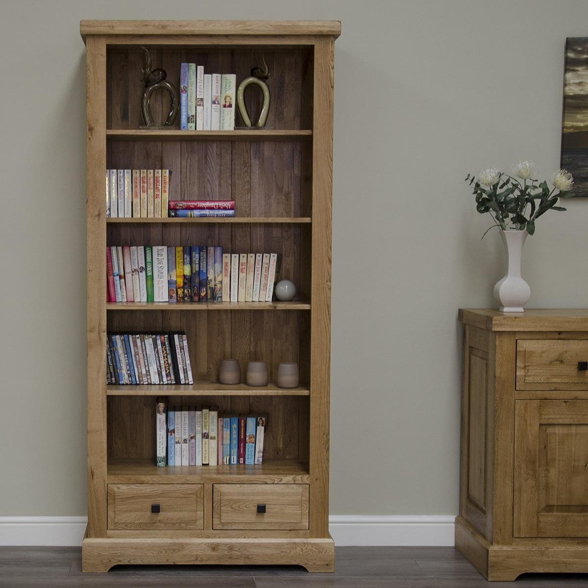 Wessex 100% Solid Oak Large Bookcase - WSXLBC