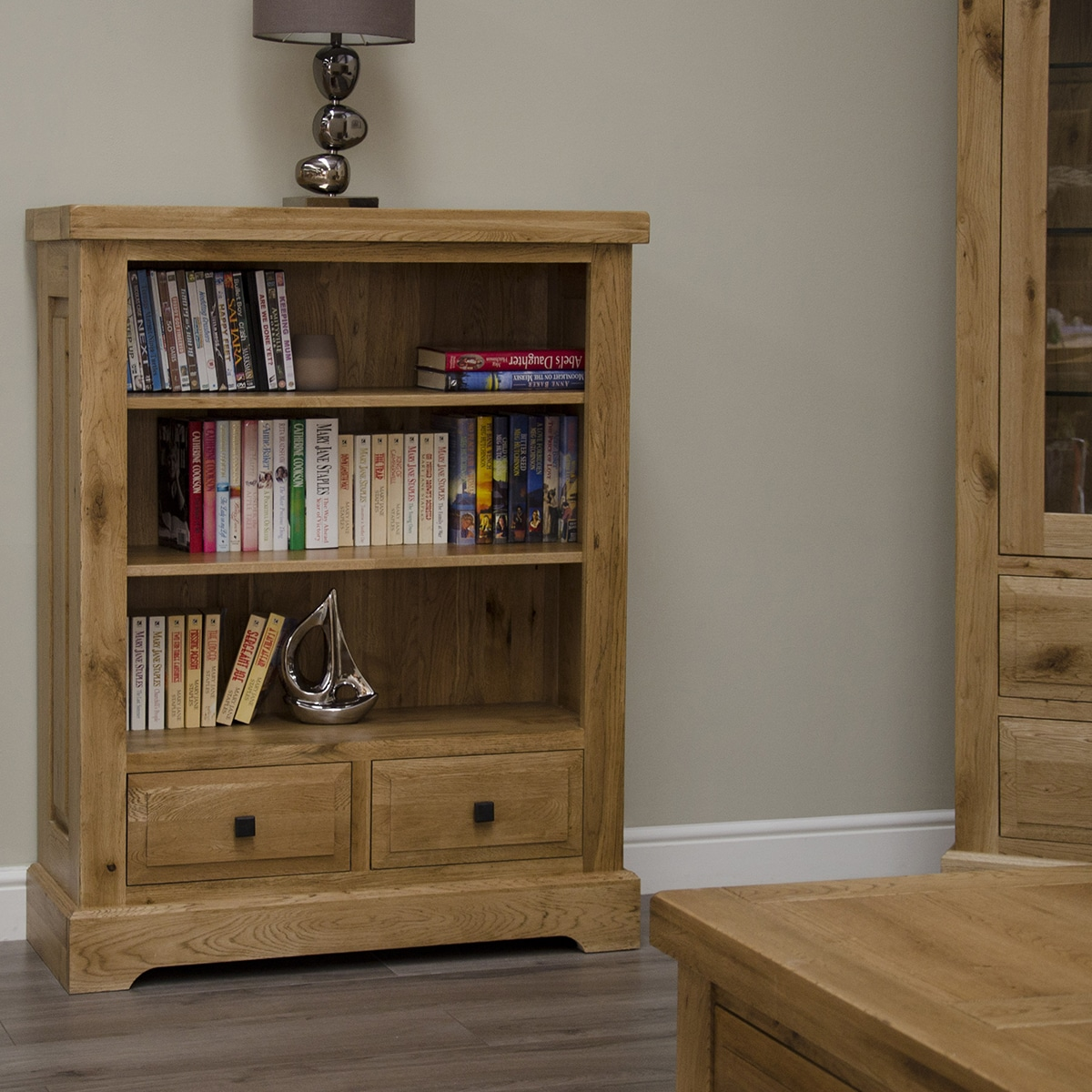 Wessex 100% Solid Oak Small Bookcase - WSXSBC