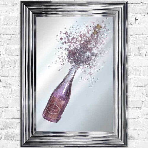 Champagne Light Up Mirror/Wall Art - CHAMPMIR