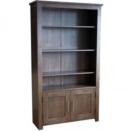 Turin Dark Two Door Bookcase- TURD2DBC