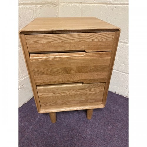 Nordic 3 Drawer Bedside- NOR3BS