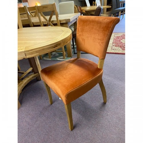 Capone Orange Fabric Dining Chair - CAPORA