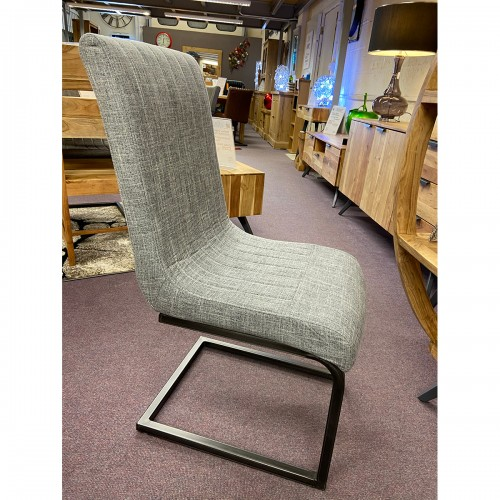 Bellary District Grey Fabric Dining Chair- BDOSGF
