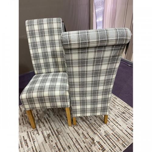 Herringbone Check Rollback Dining Chair - HERCHECK