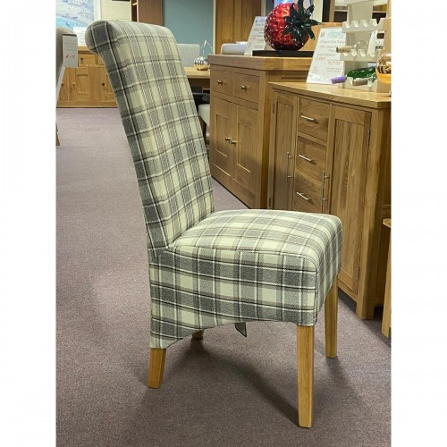 Herringbone Check Rollback Dining Chair - HERCHECK
