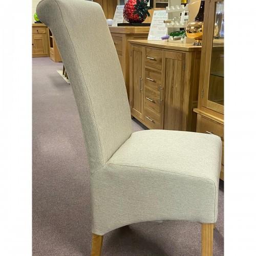Herringbone Plain Rollback Dining Chair - HERPLAIN